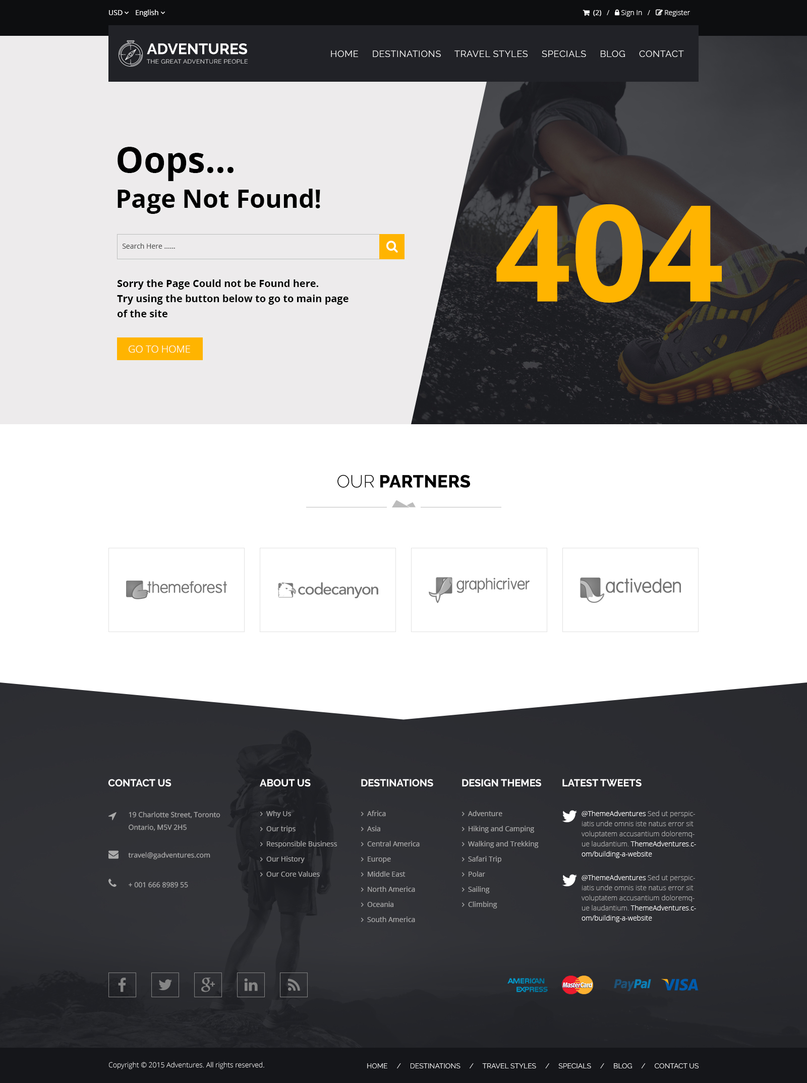 Adventures and Tour PSD Template example image 18