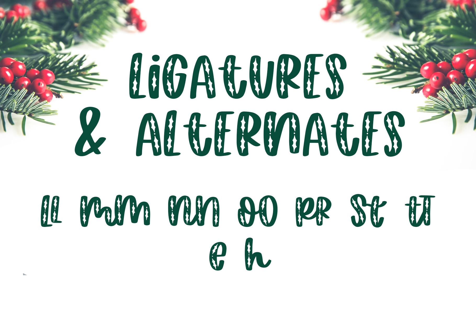 Happy Hollydays, A Christmas Mistletoe Font example image 6