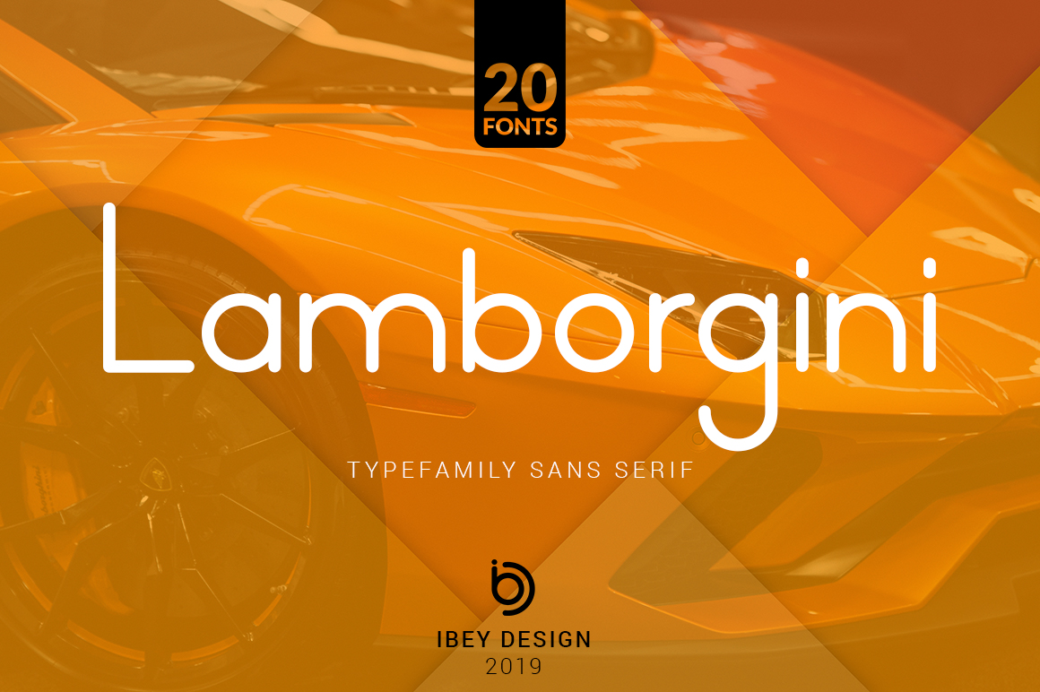 Lamborgini - 20 Fonts Included example image 1