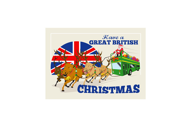 Great British Christmas Santa Reindeer Doube Decker Bus example image 1