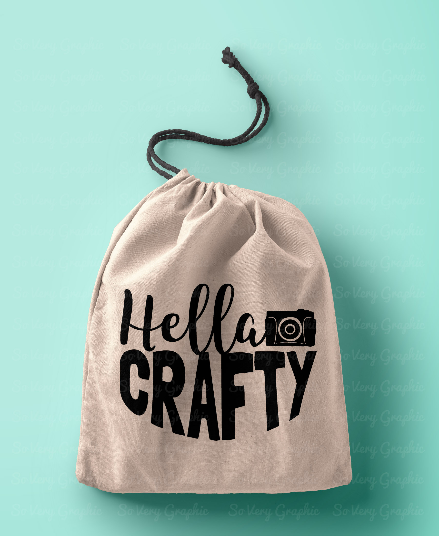 Hella Crafty   Cutting File & Printable   SVG   PNG   Camera example image 2