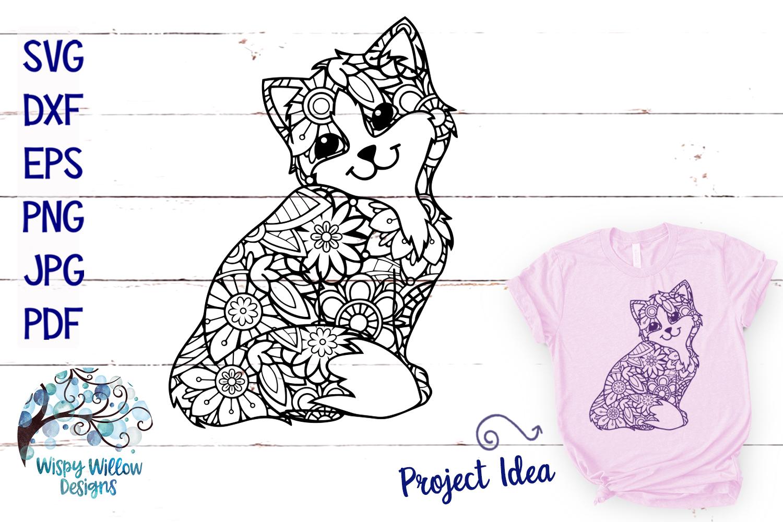 Cat Zentangle SVG example image 1