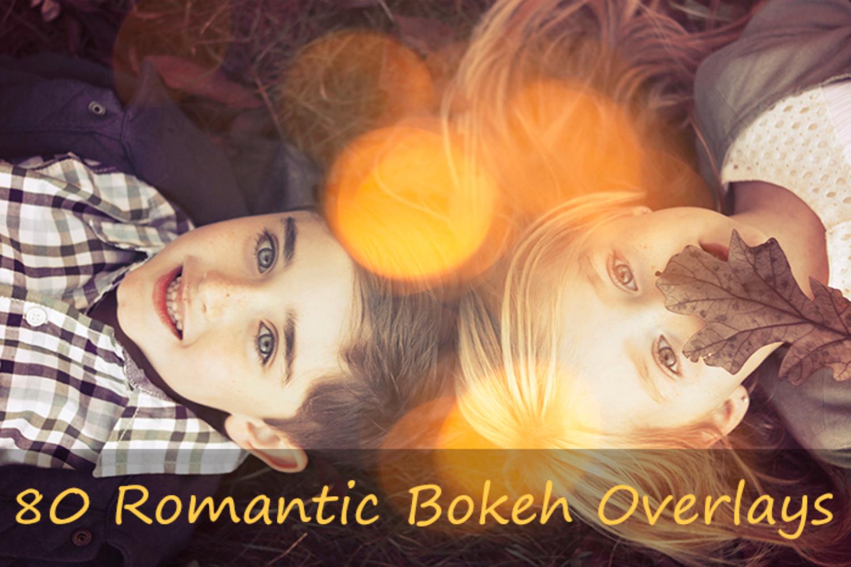 80 Romantic Bokeh Overlays example image 1