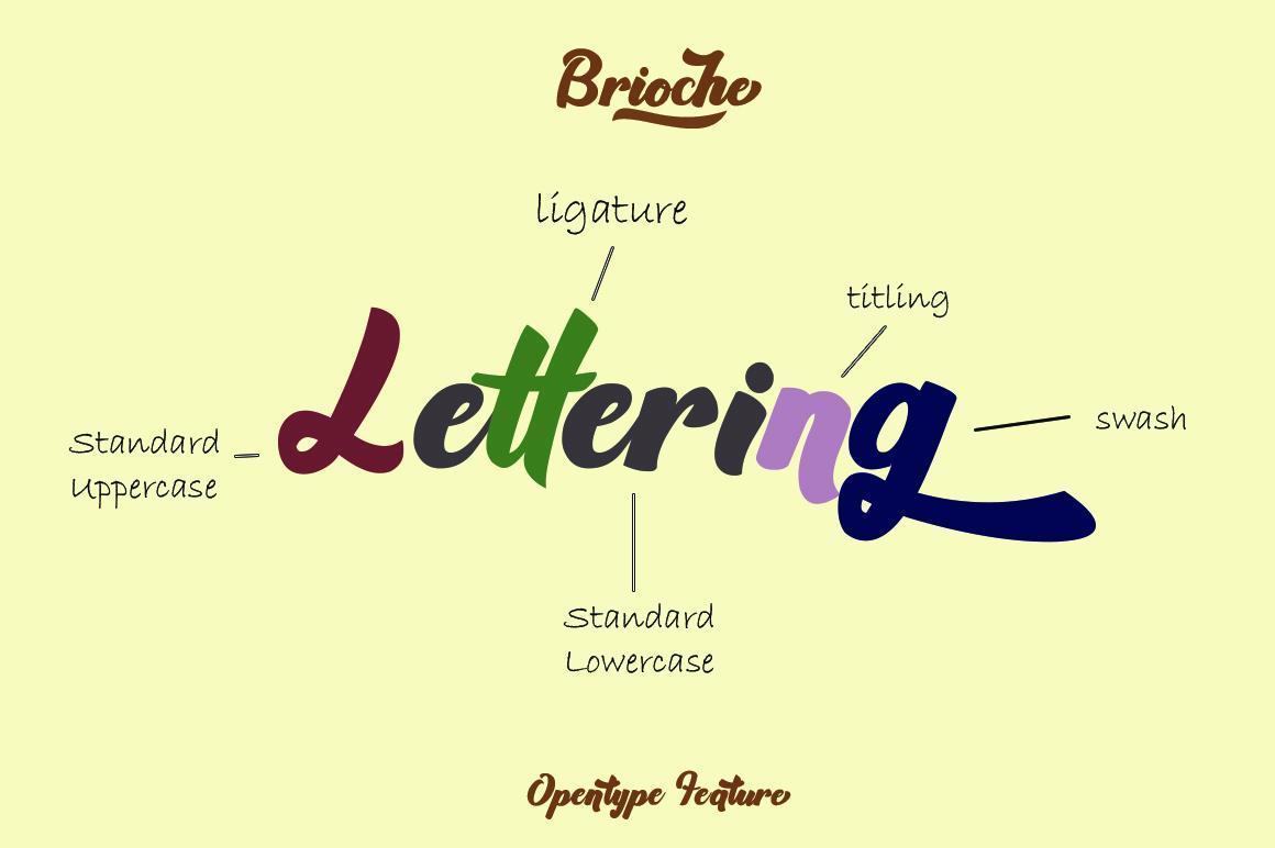 Brioche - Bold Script Typeface example image 2