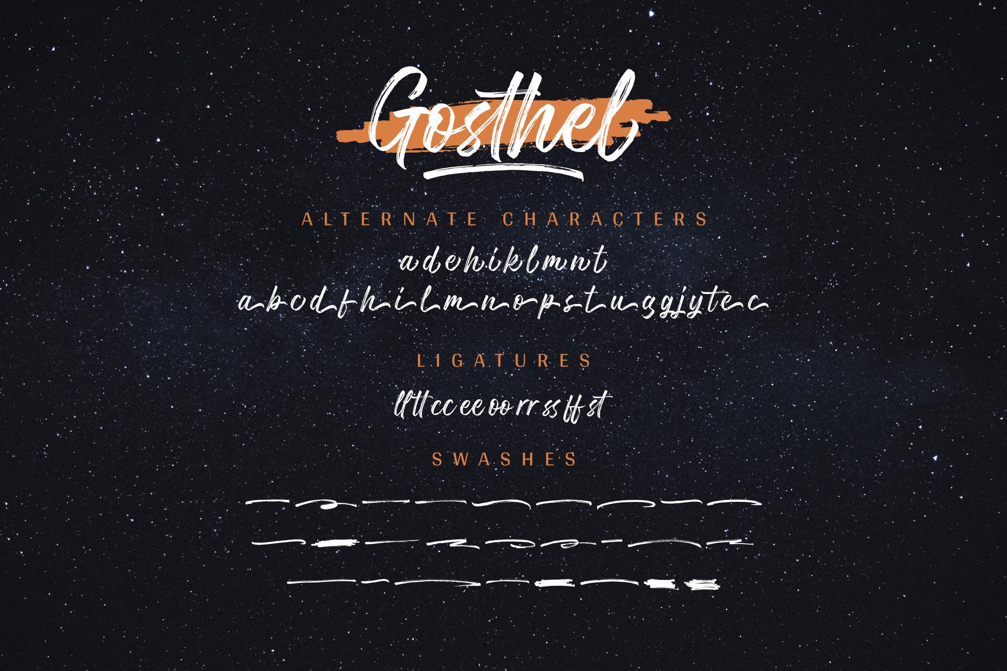Gosthel - Dry Brush Font example image 13