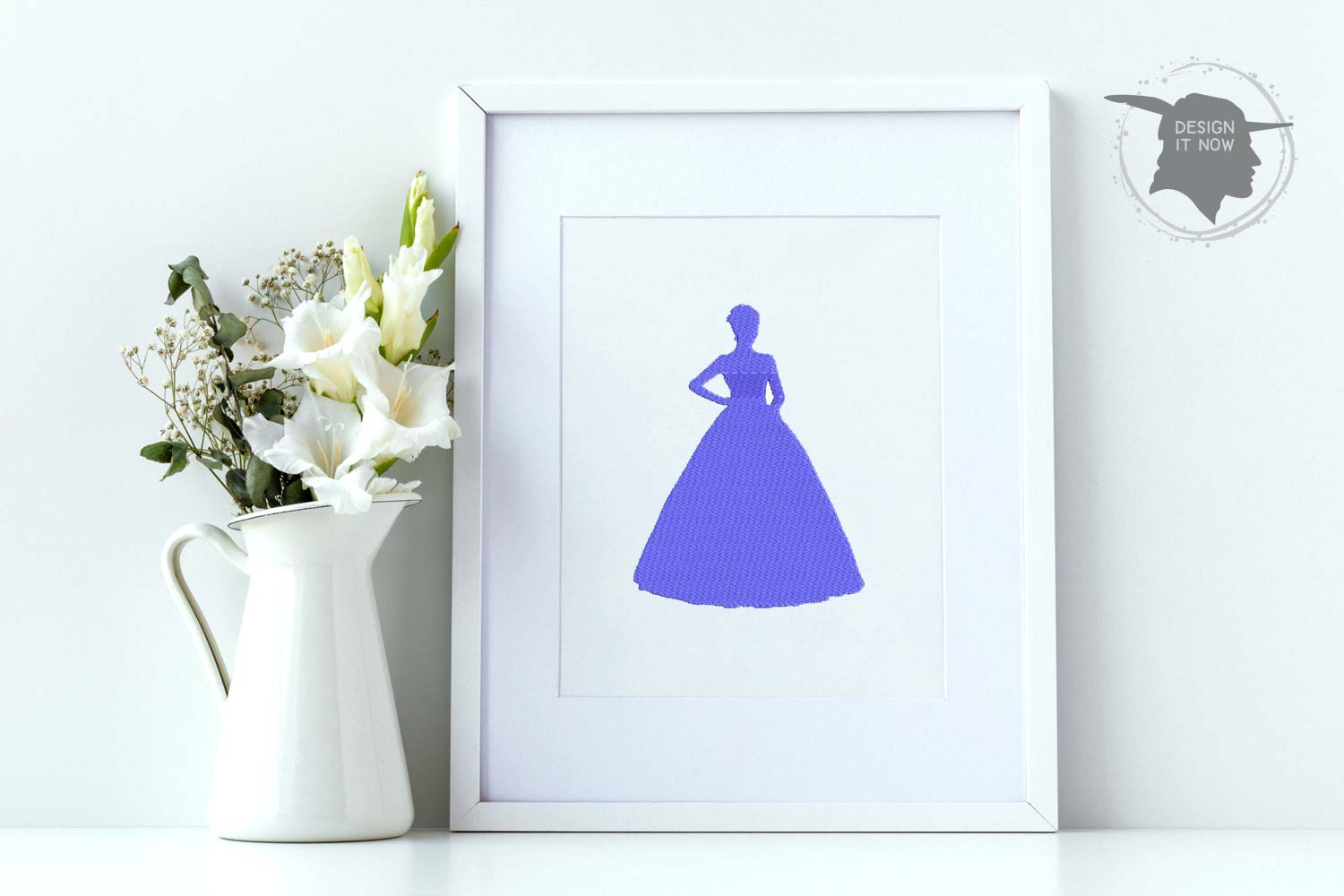 Princess Embroidery Design, Crown Embroidery Pattern example image 1