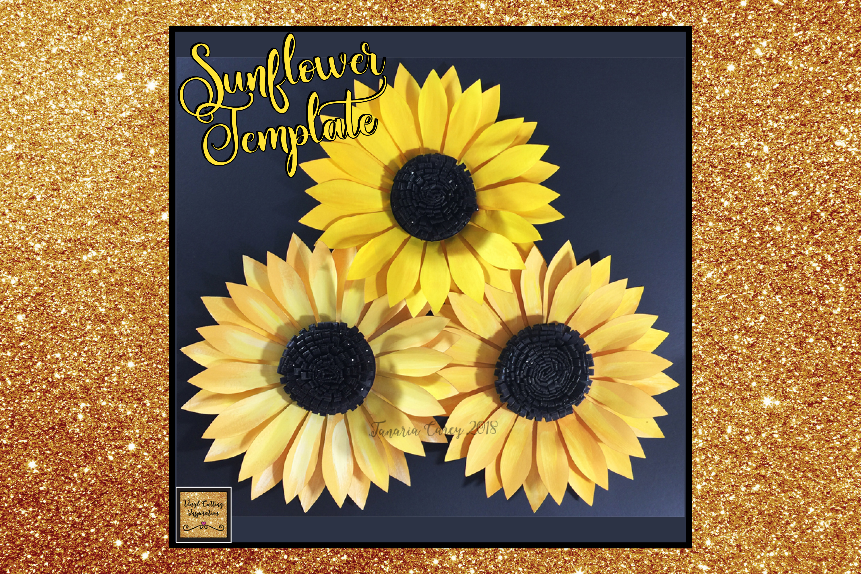 Paper sunflower template svg cut file paper flower print paper sunflower template svg cut file paper flower print example image 1 mightylinksfo