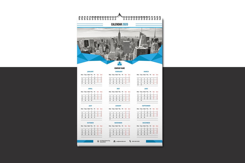 Printable Wall Calendar 2020 example image 1