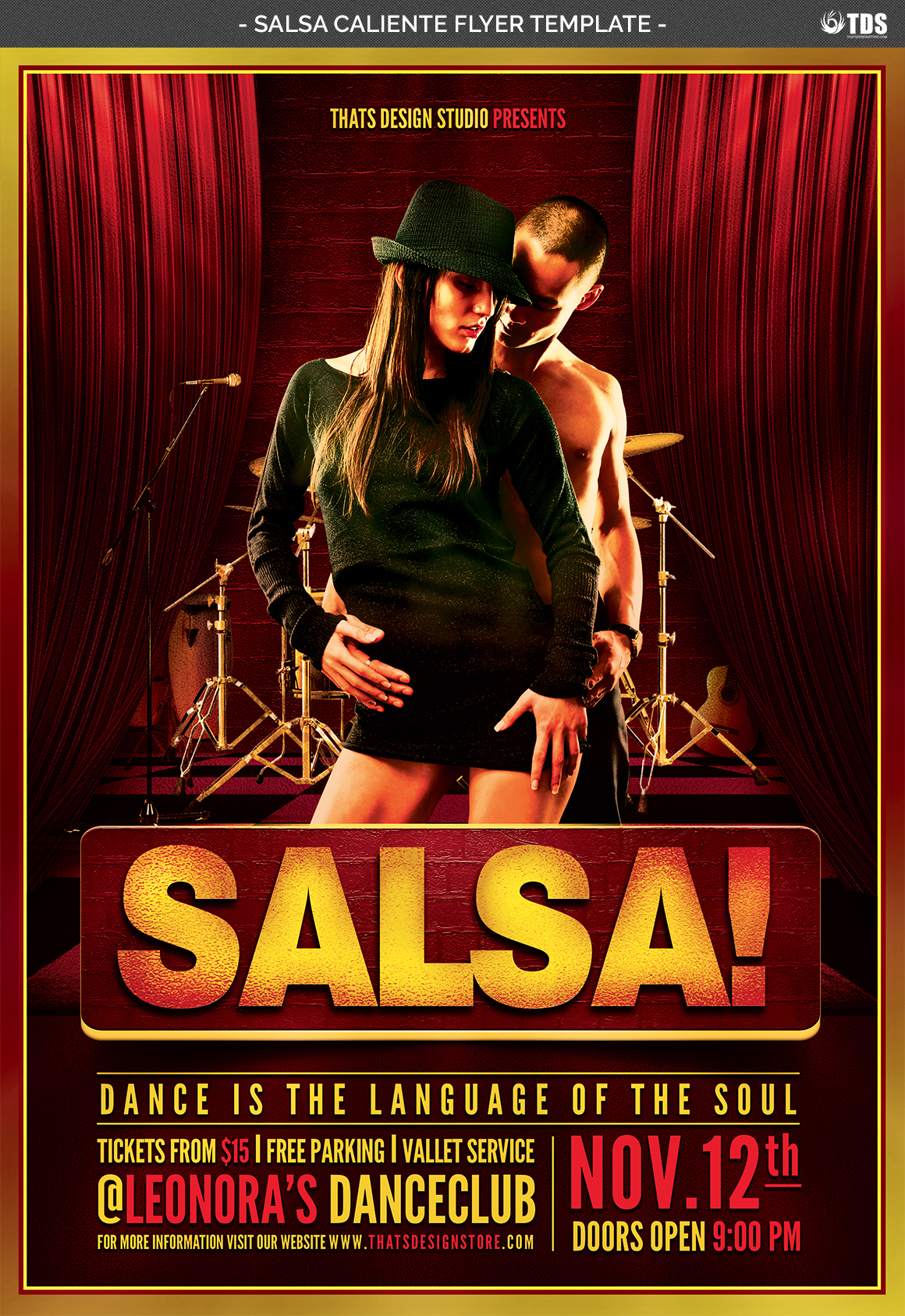 Salsa Caliente Flyer Template example image 4
