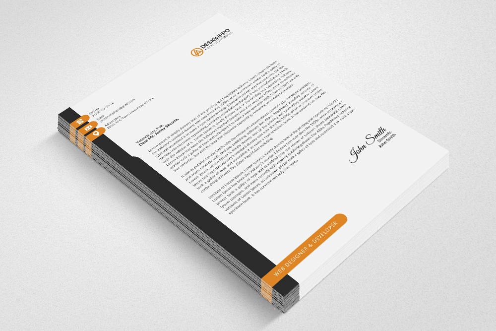 Letterhead Microsoft Word example image 3