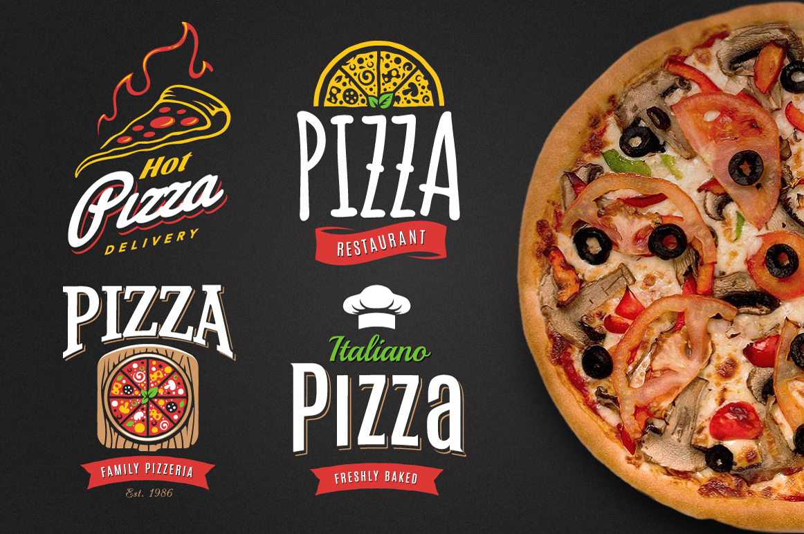 Pizza Logo Templates example image 4
