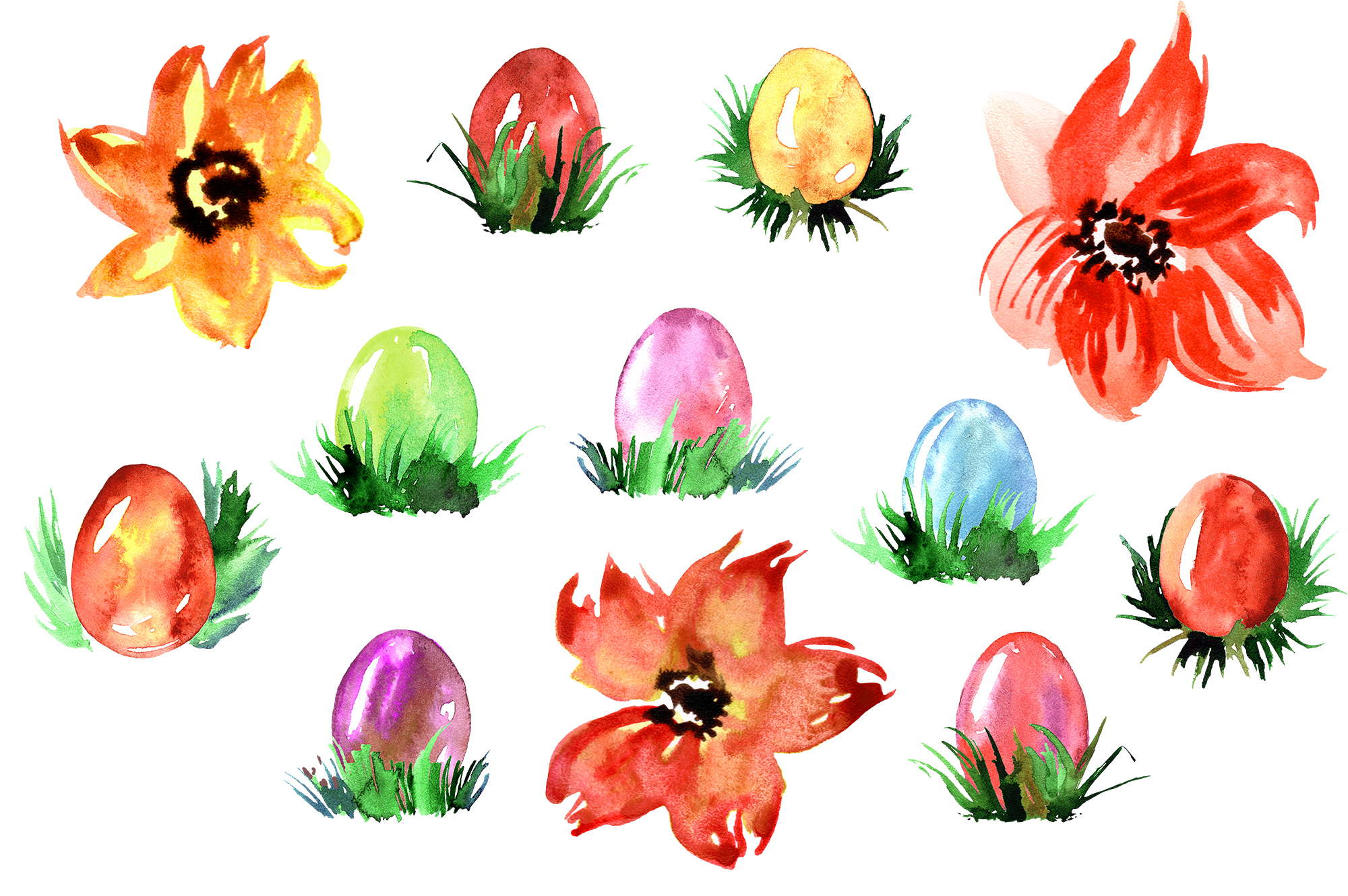 Watercolor Happy Easter example image 4