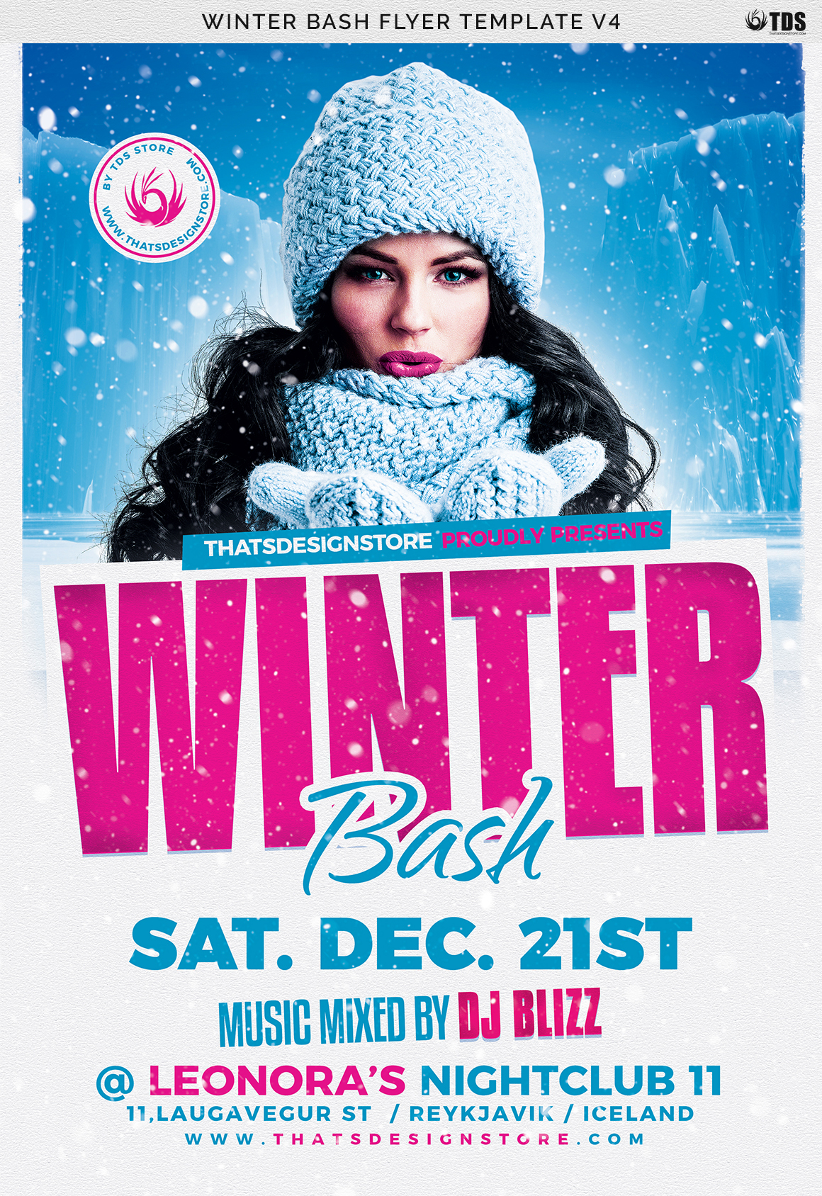 Winter Bash Flyer Template V4 example image 7