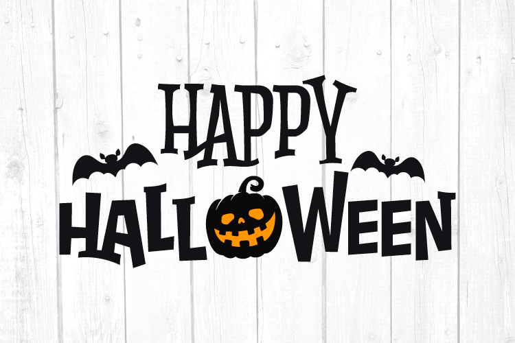 Happy Halloween Svg, Halloween Svg, Pumpkin, Bats, Svg Files example image 1