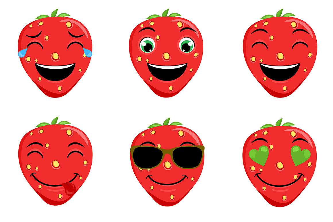 Strawberry Emoticons example image 5