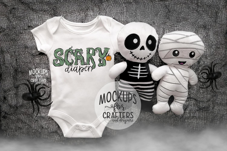 Baby Bodysuit - BONUS PHOTO INCL - Halloween Theme Mock-Up example image 2