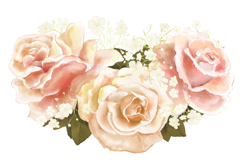 Elegant Wedding Flowers | PNG/JPEG | Clip Art Illustrations
