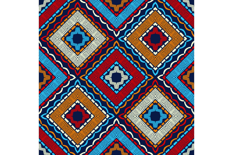 Zebra stripes. Ethnic boho ornament. 10 seamless patterns. example image 2
