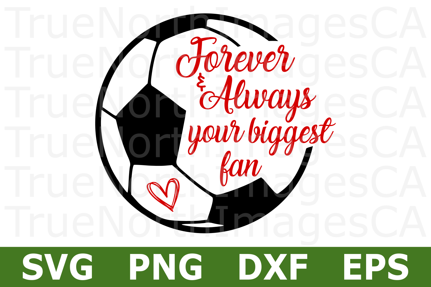 Your Biggest Fan Soccer - A Sports SVG Cut File example image 1