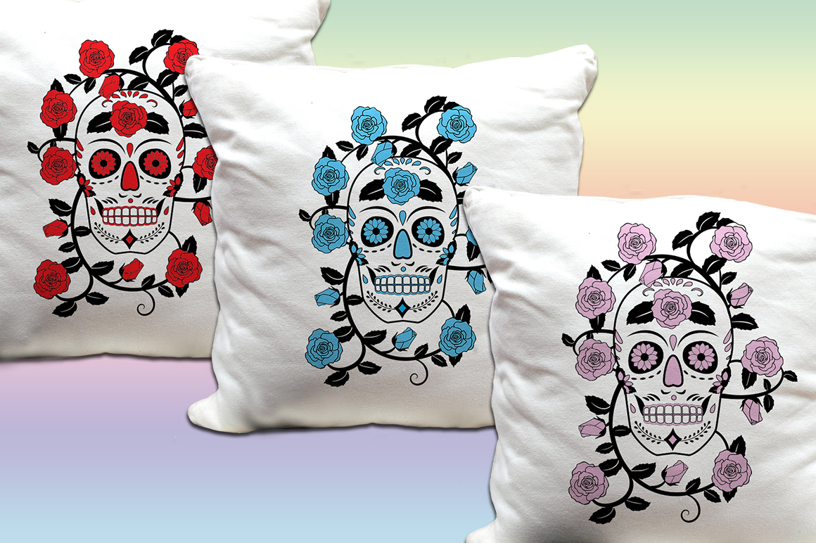 5 Skull & Roses Vector Designs- SVG & PNG example image 3