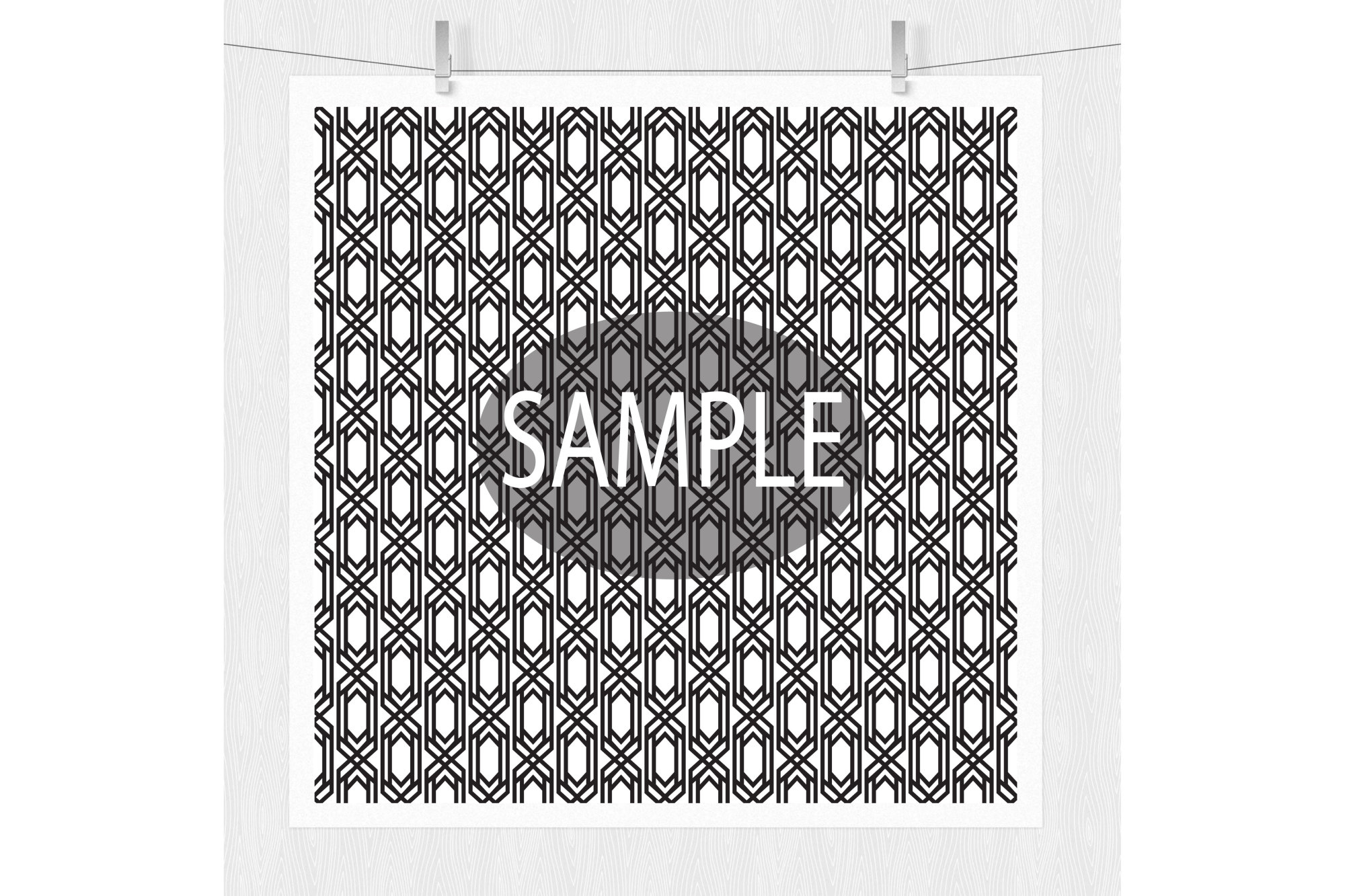 Black and White Digital Paper  example image 3