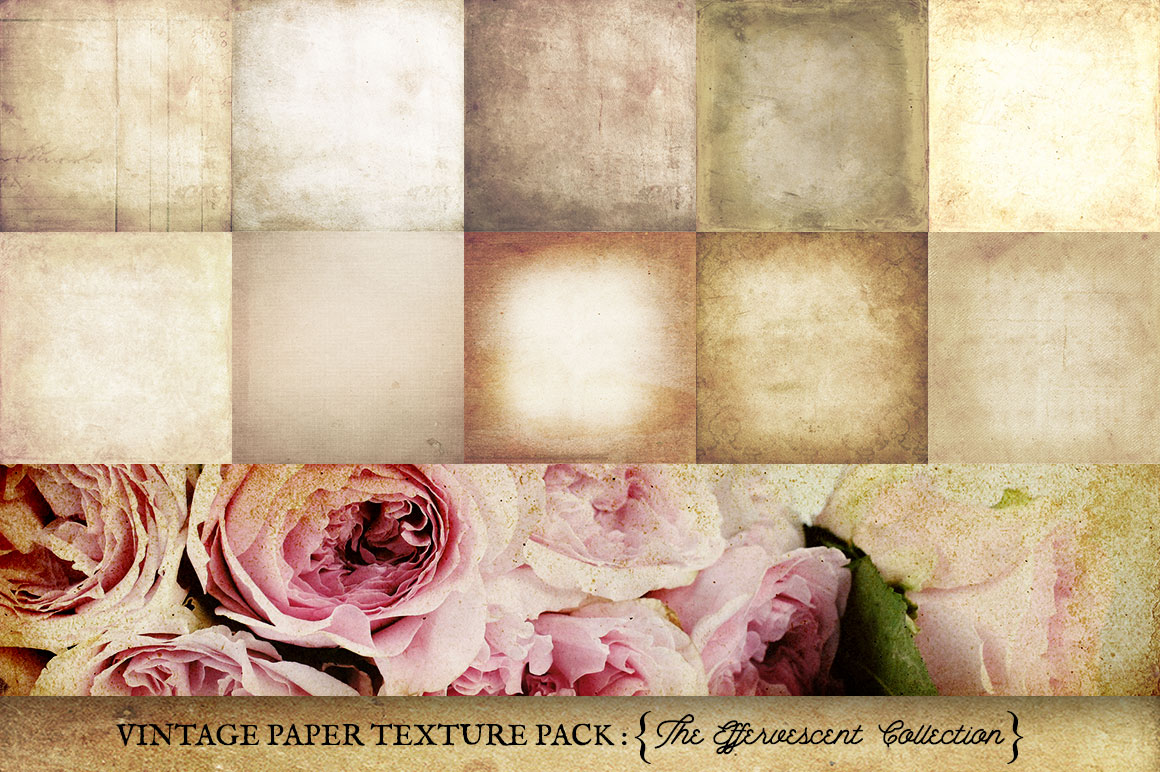 Vintage Paper Textures Effervescent Collection example image 4