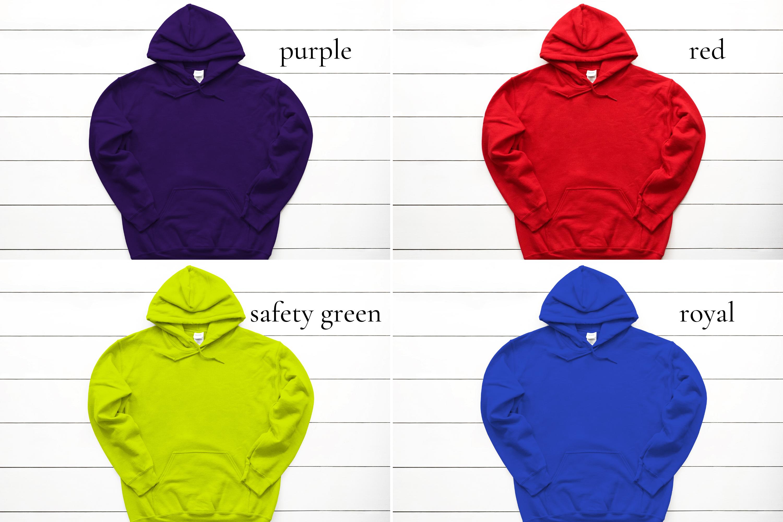 Hoodie Mockup Bundle Gildan 18500 Basic hoodie mockups example image 8