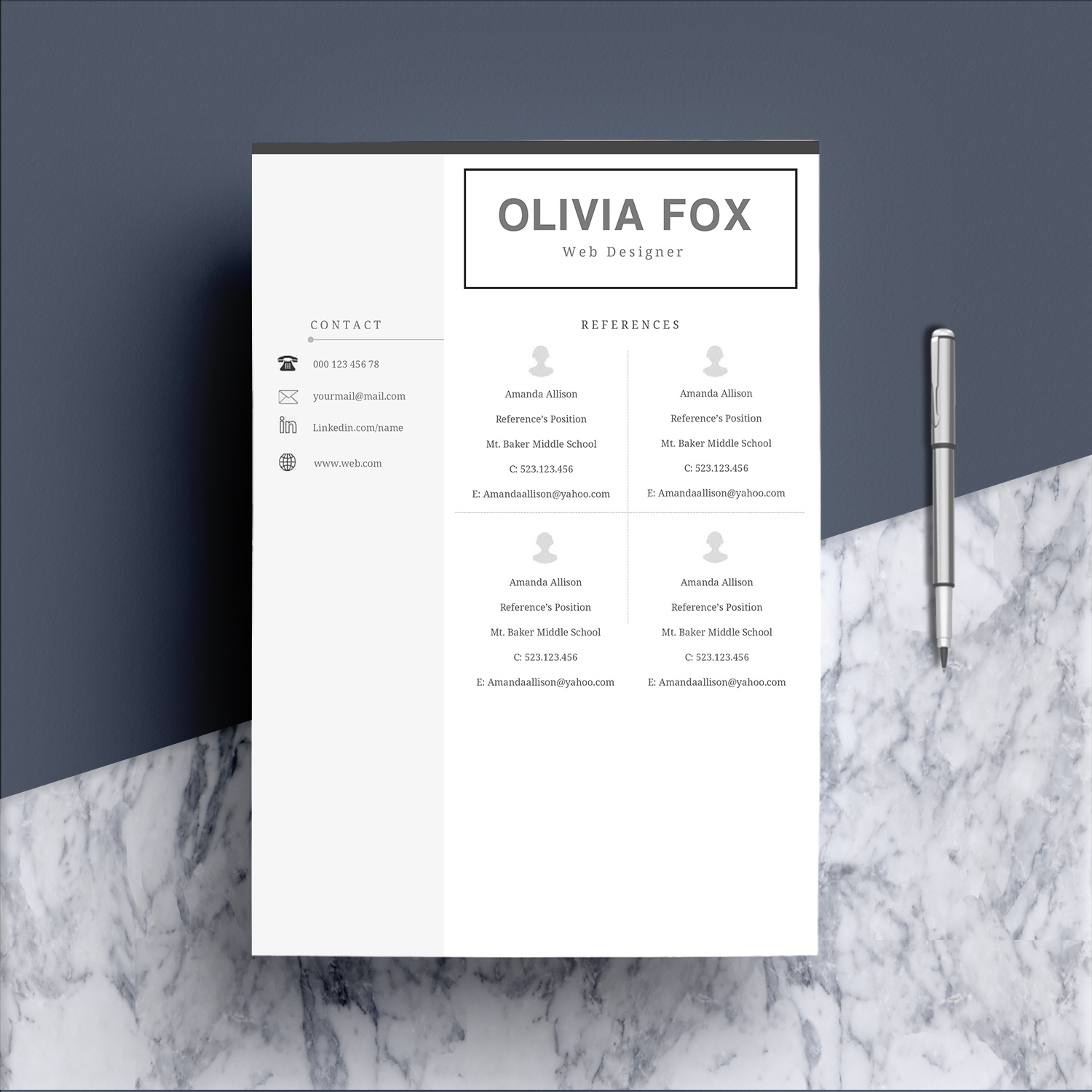 Clean Resume Template 4 Pages example image 6