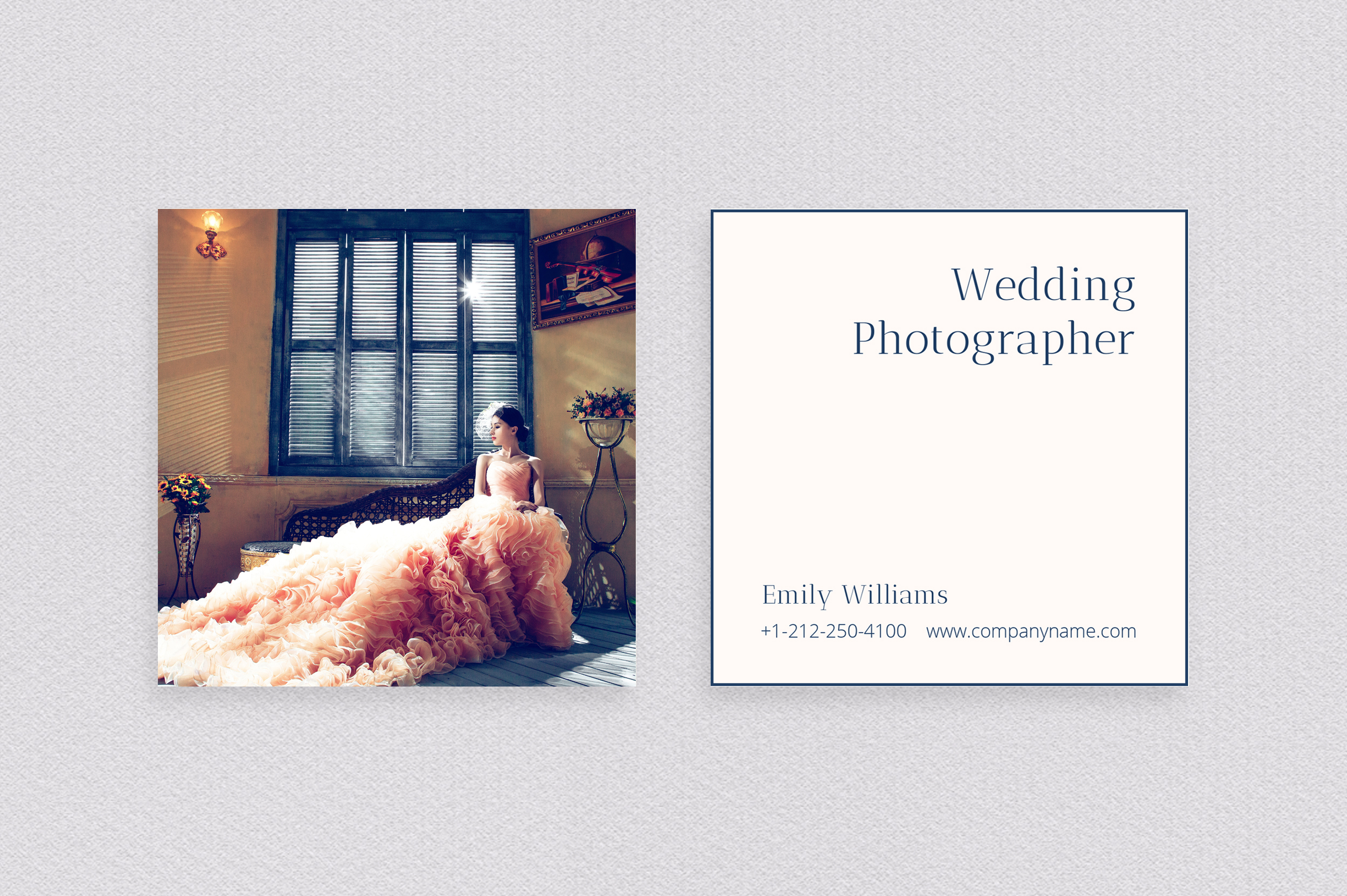 Wedding Photography Business Card example image 3