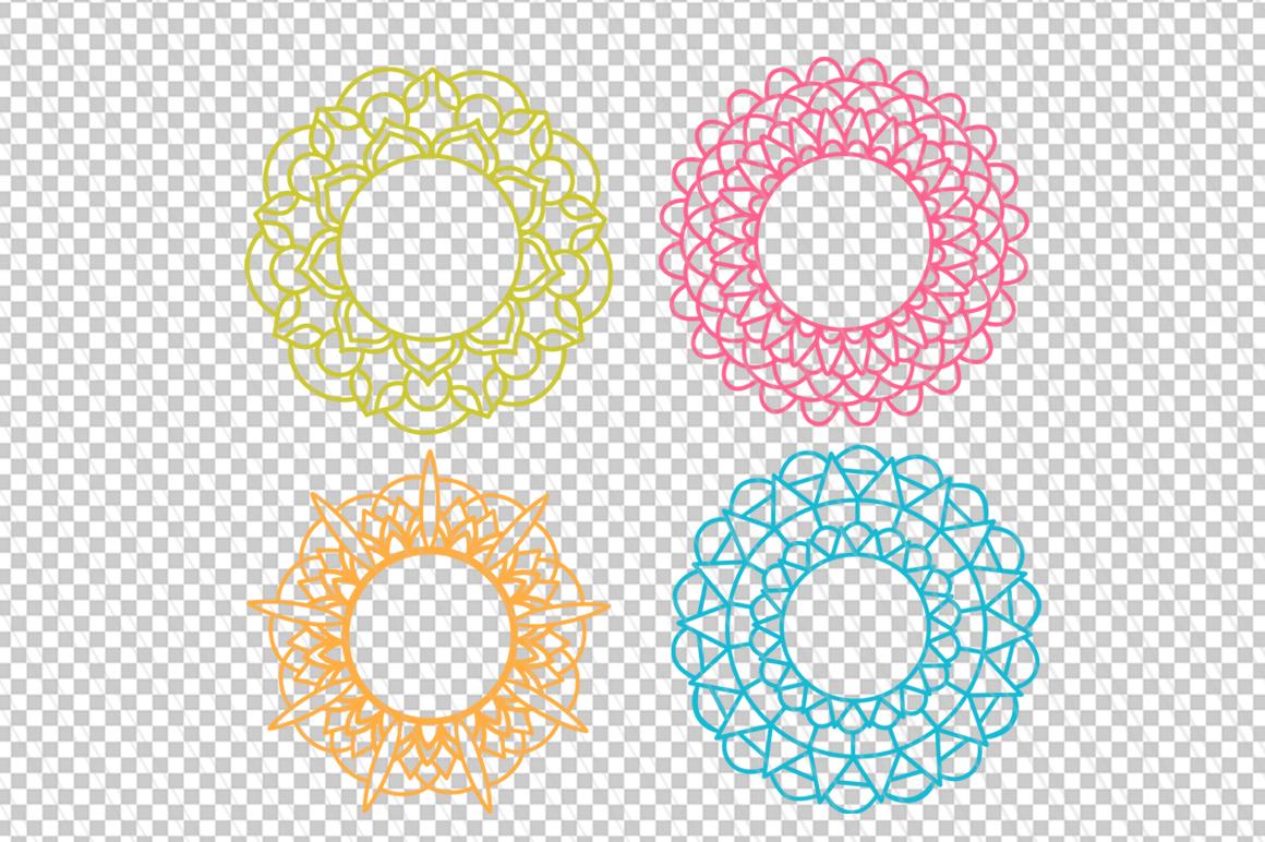 Mandala svg/dxf cutting files example image 2