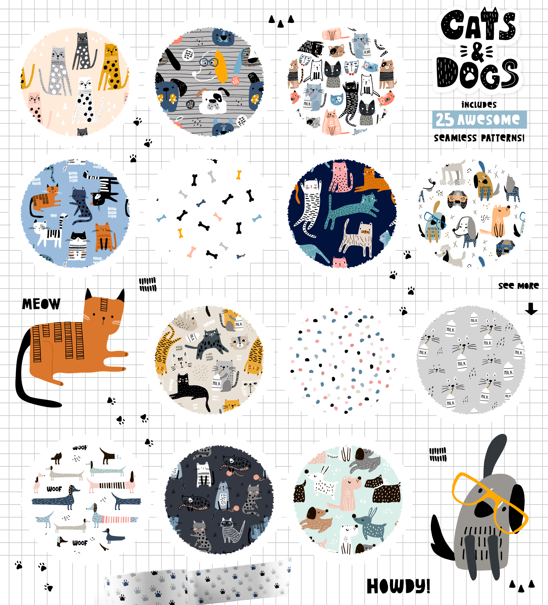Cats&Dogs graphic collection example image 2