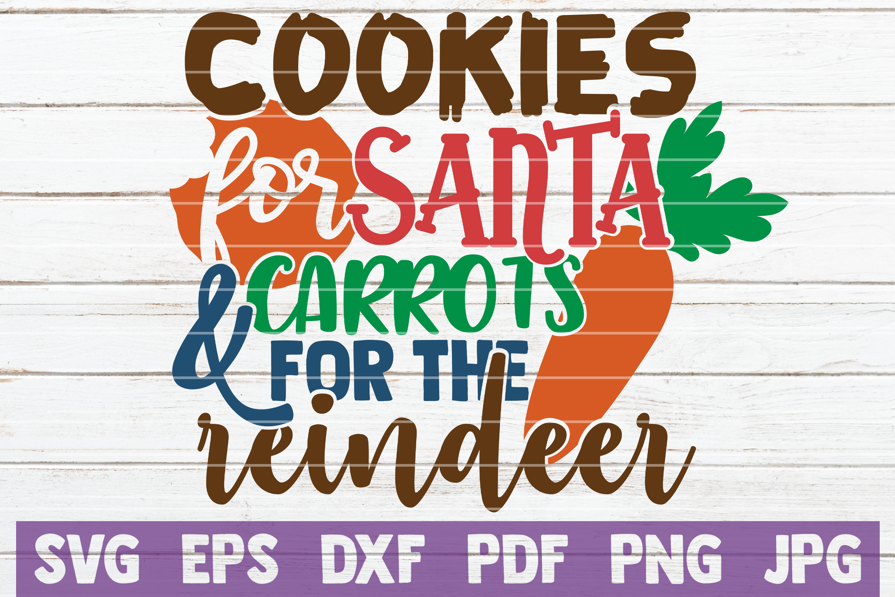 Cookies For Santa And Carrots For The Reindeer SVG Cut File example image 1