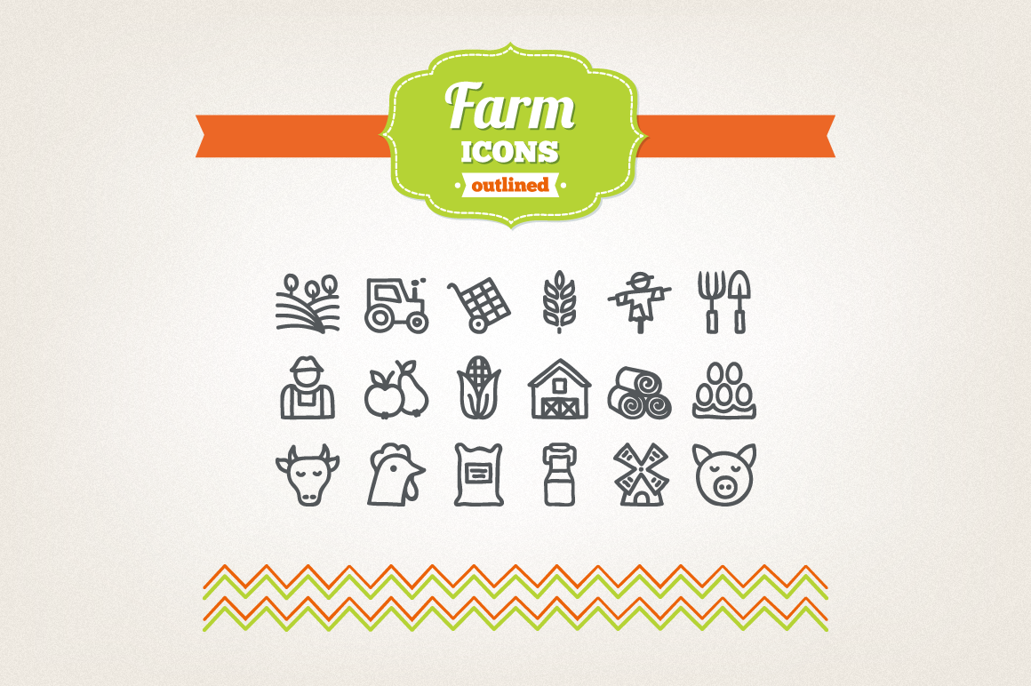 Hand Drawn Farm Icons example image 1