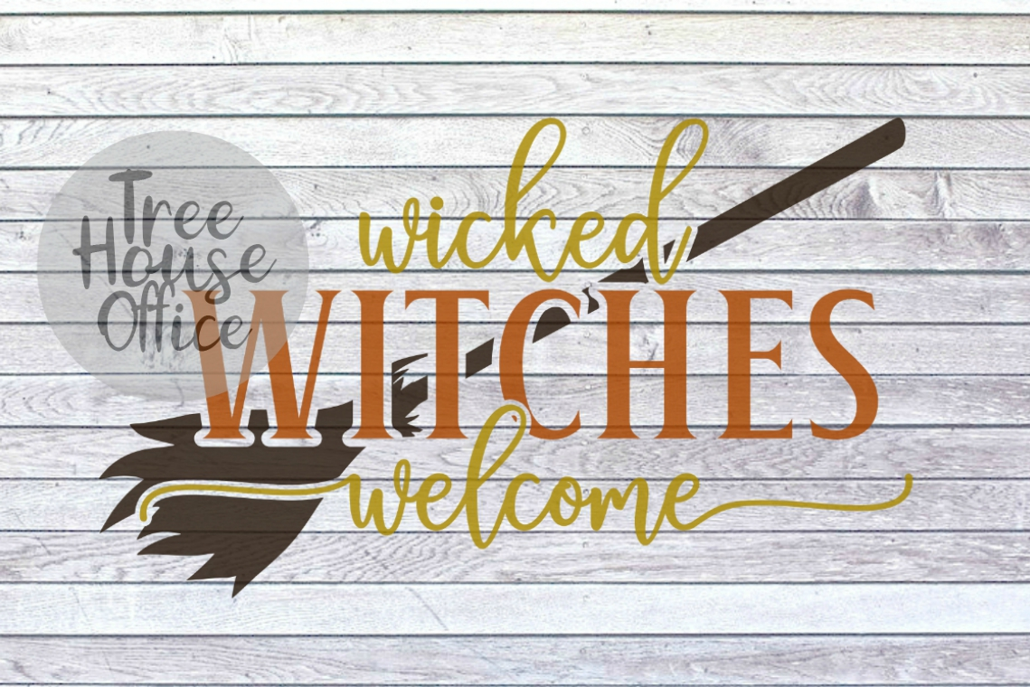 Wicked Witches Welcome Front Porch Sign SVG PNG JPG DXF example image 2