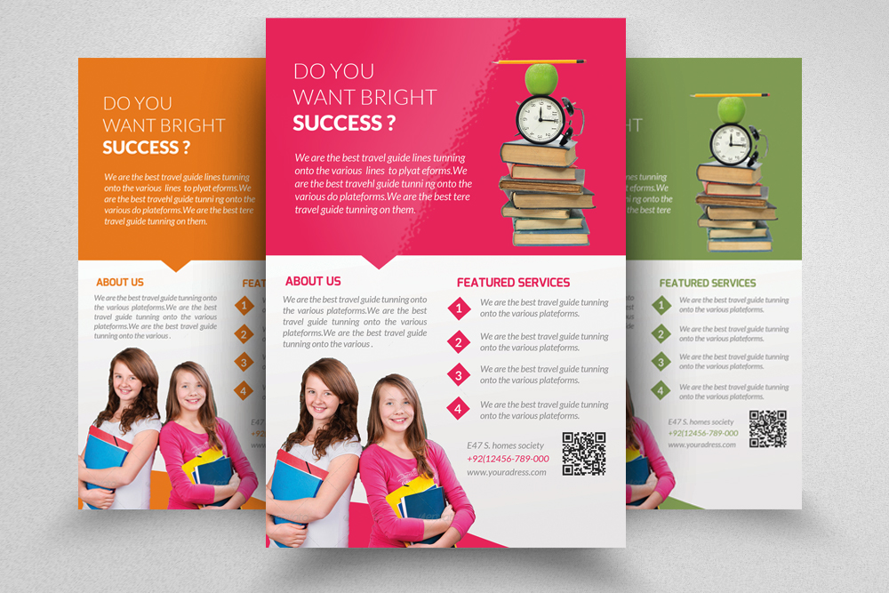 6 Education Flyers Bundle example image 2