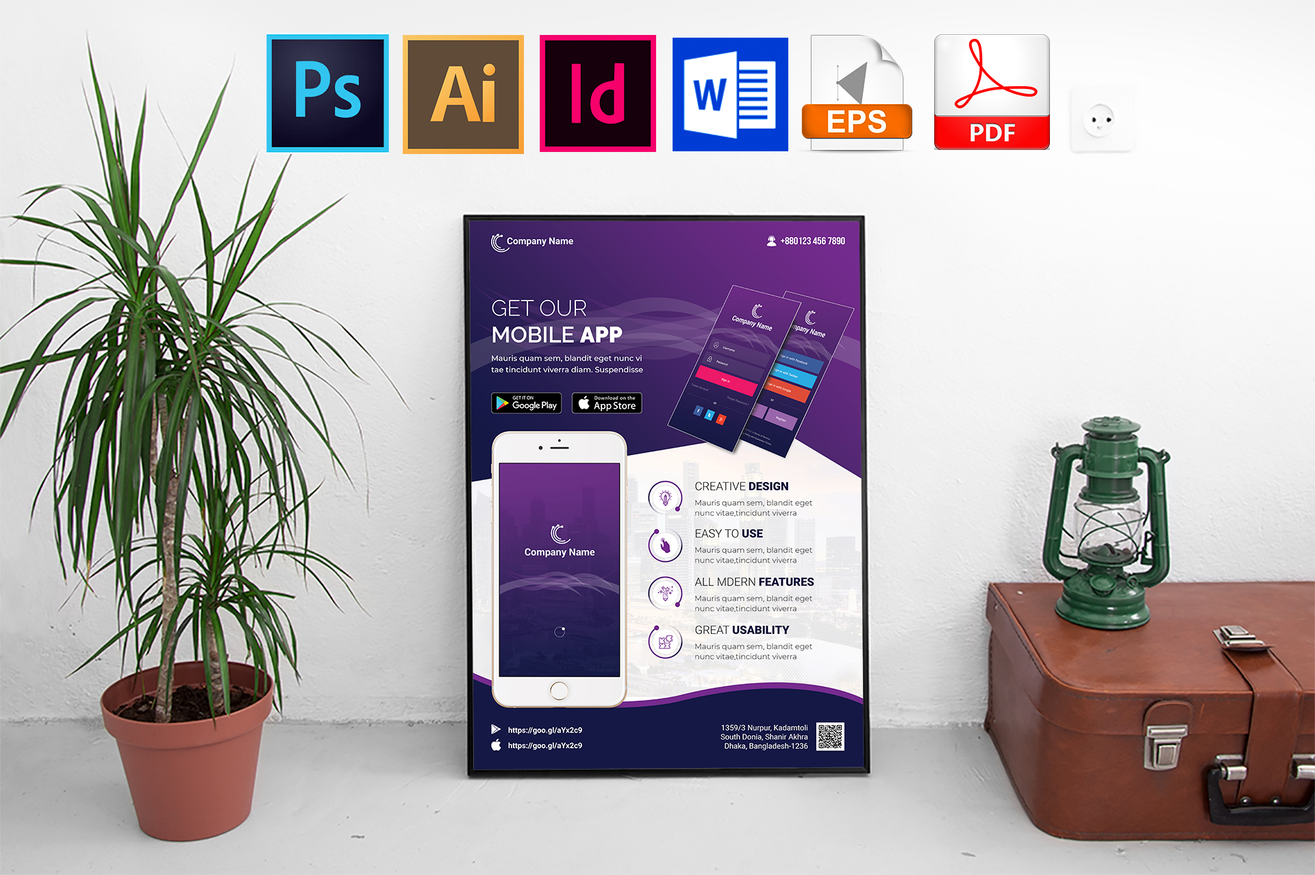 Poster | Mobile App Promotion Vol-01 example image 1