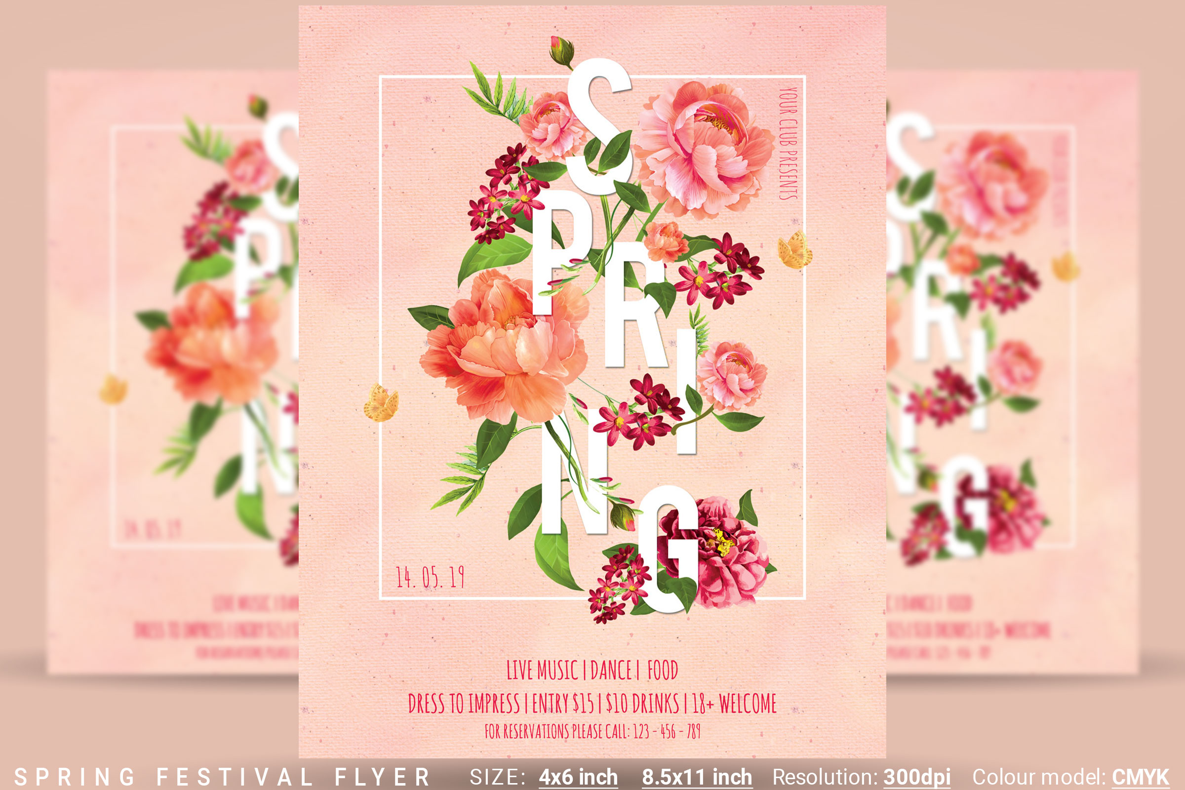 Spring Festival Party Flyer example image 1
