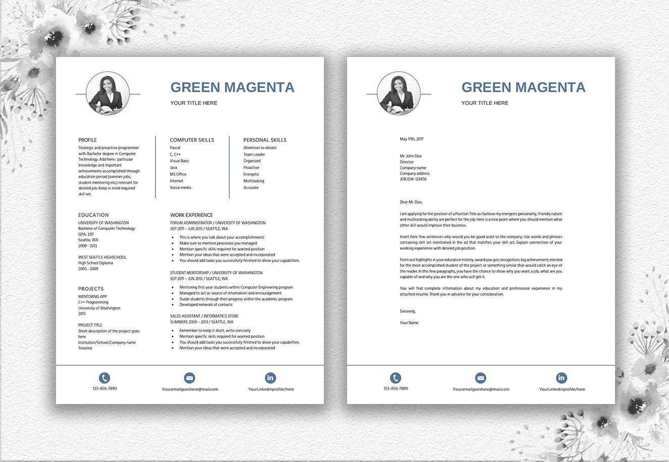 Resume Template Entry Level | Career Starter Pack example image 4