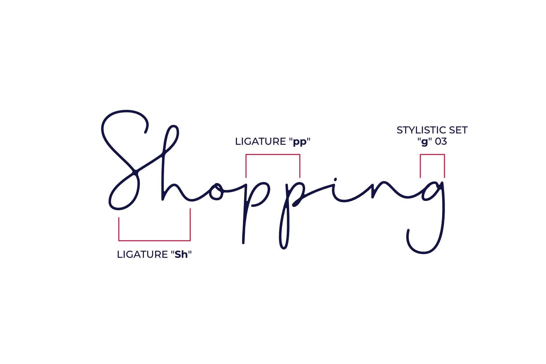 Shopping Font example image 5