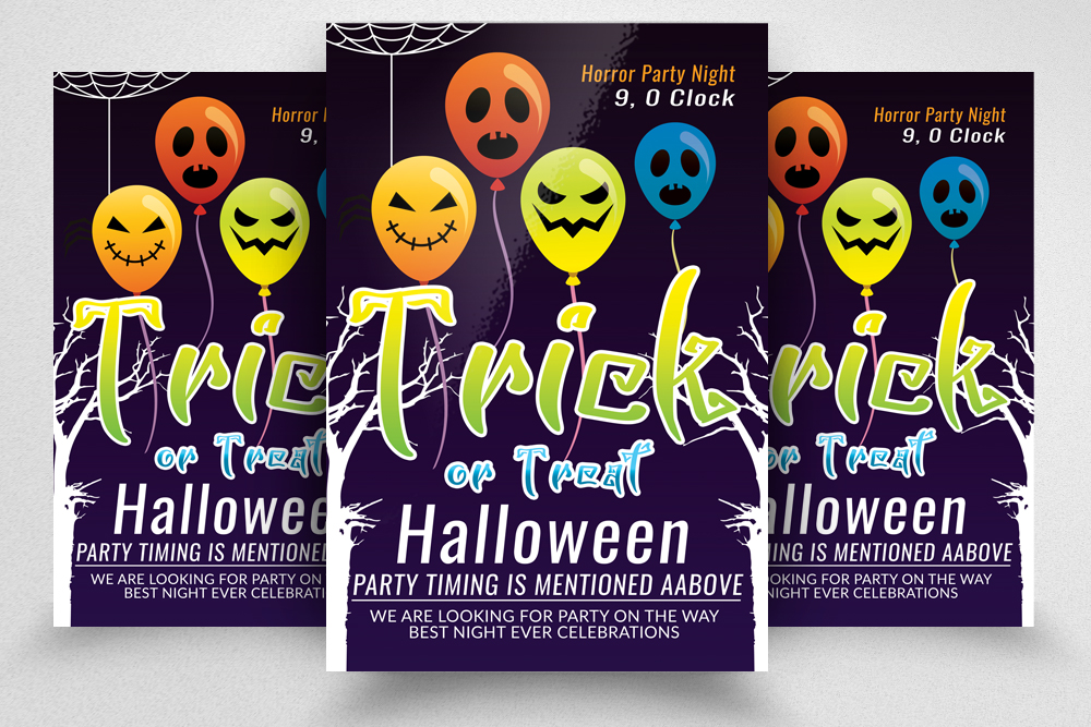 Halloween Flyer / Poster Template example image 1