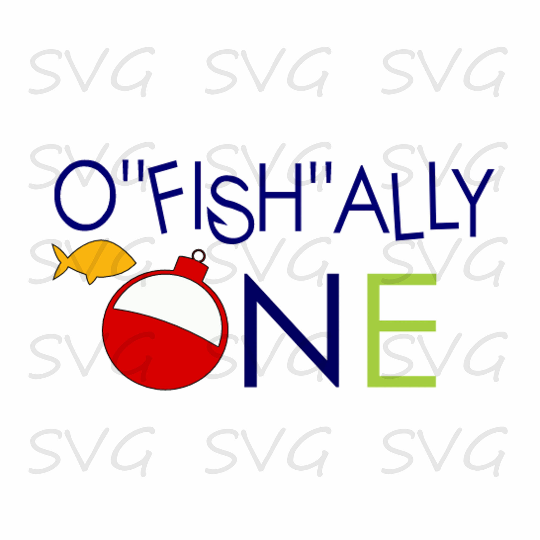 O Fish Ally One Birthday First Svg Cut File Example