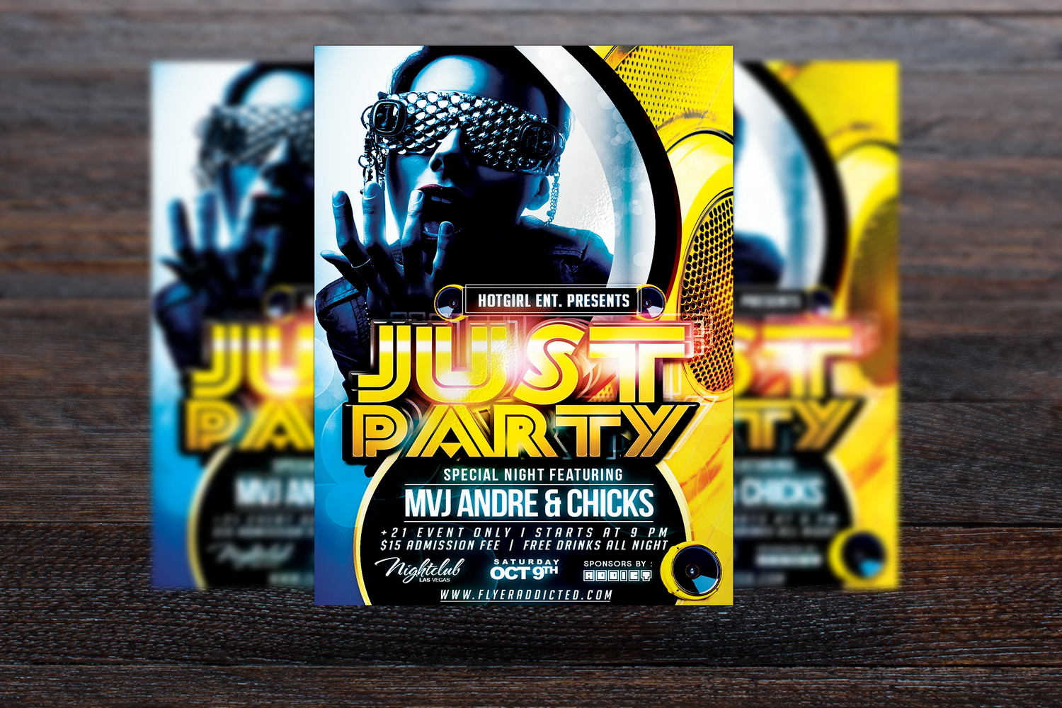 Just Party Flyer example image 3