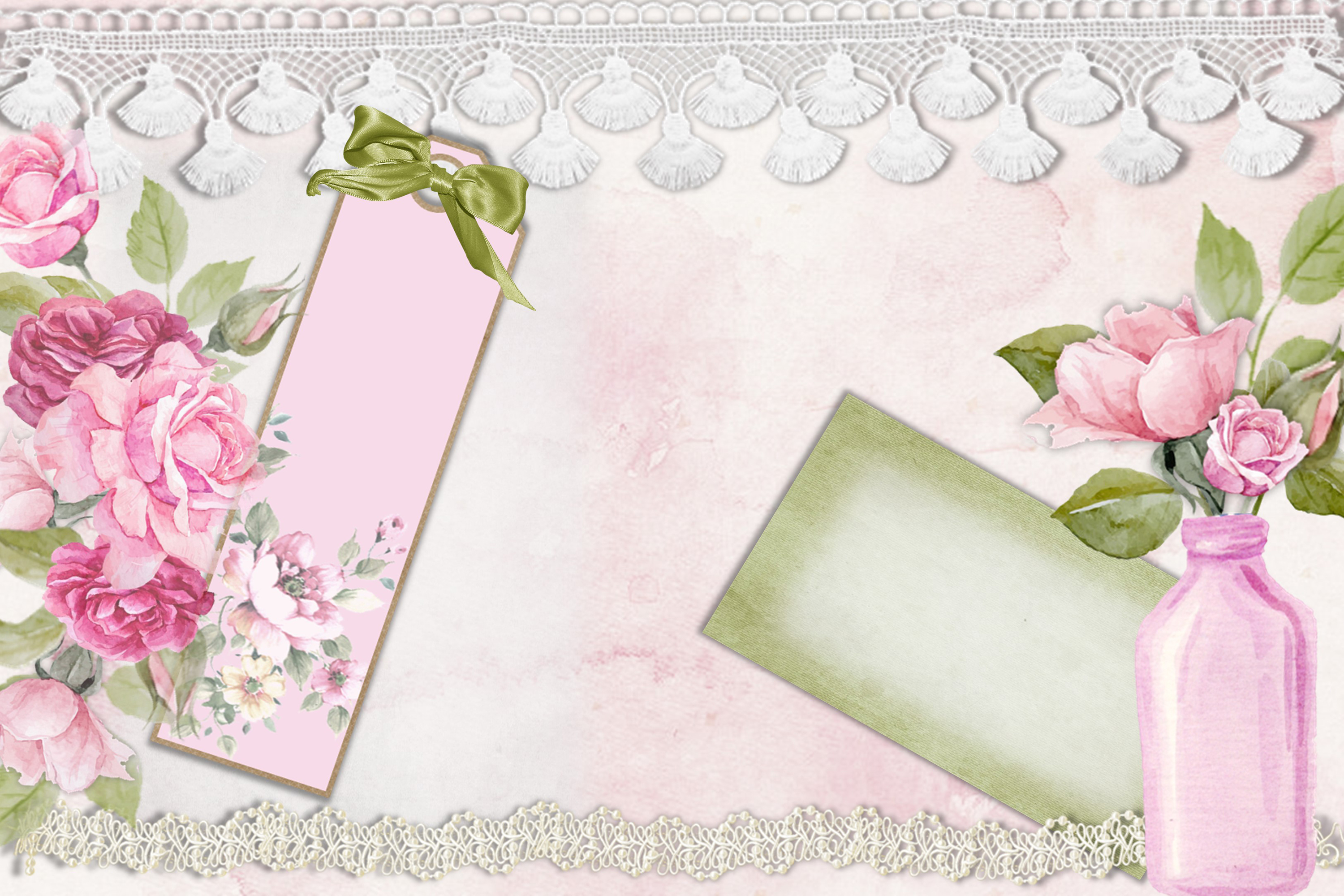 Printable Journaling Kit Romance and lace JPEG PDF PNG example image 4