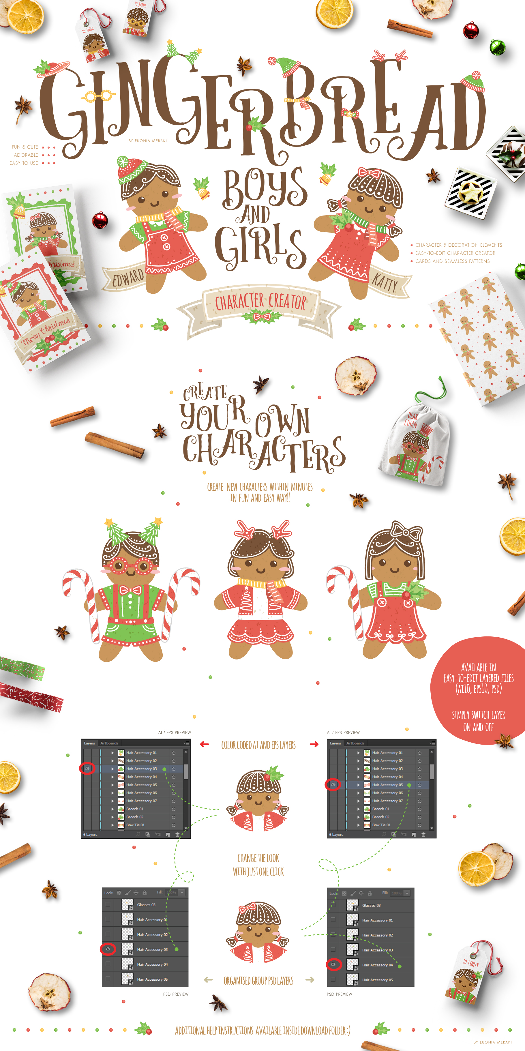 Gingerbread Boys and Girls - Christmas Character Creator example image 2