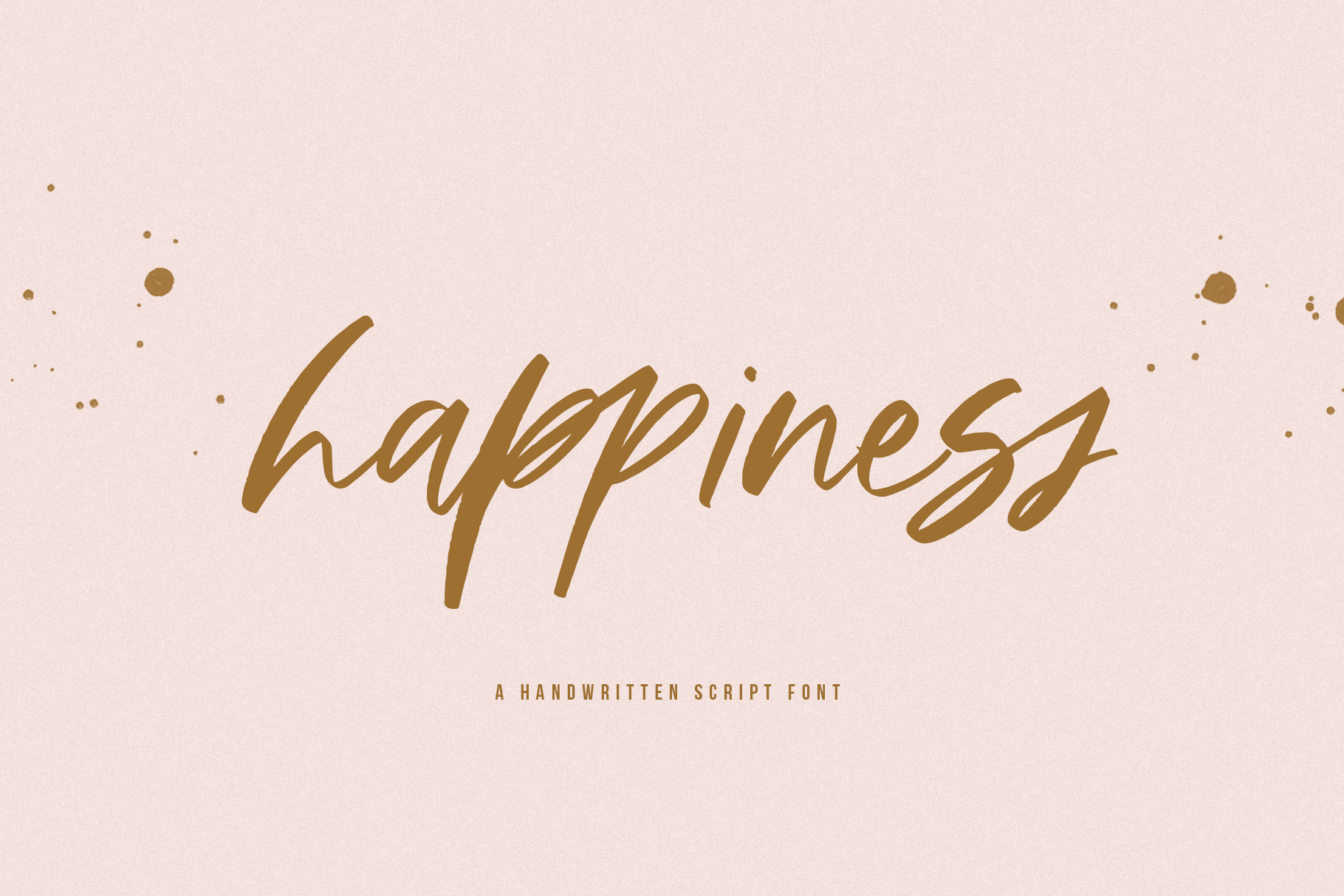 Happiness - A Handwritten Script Font example image 1