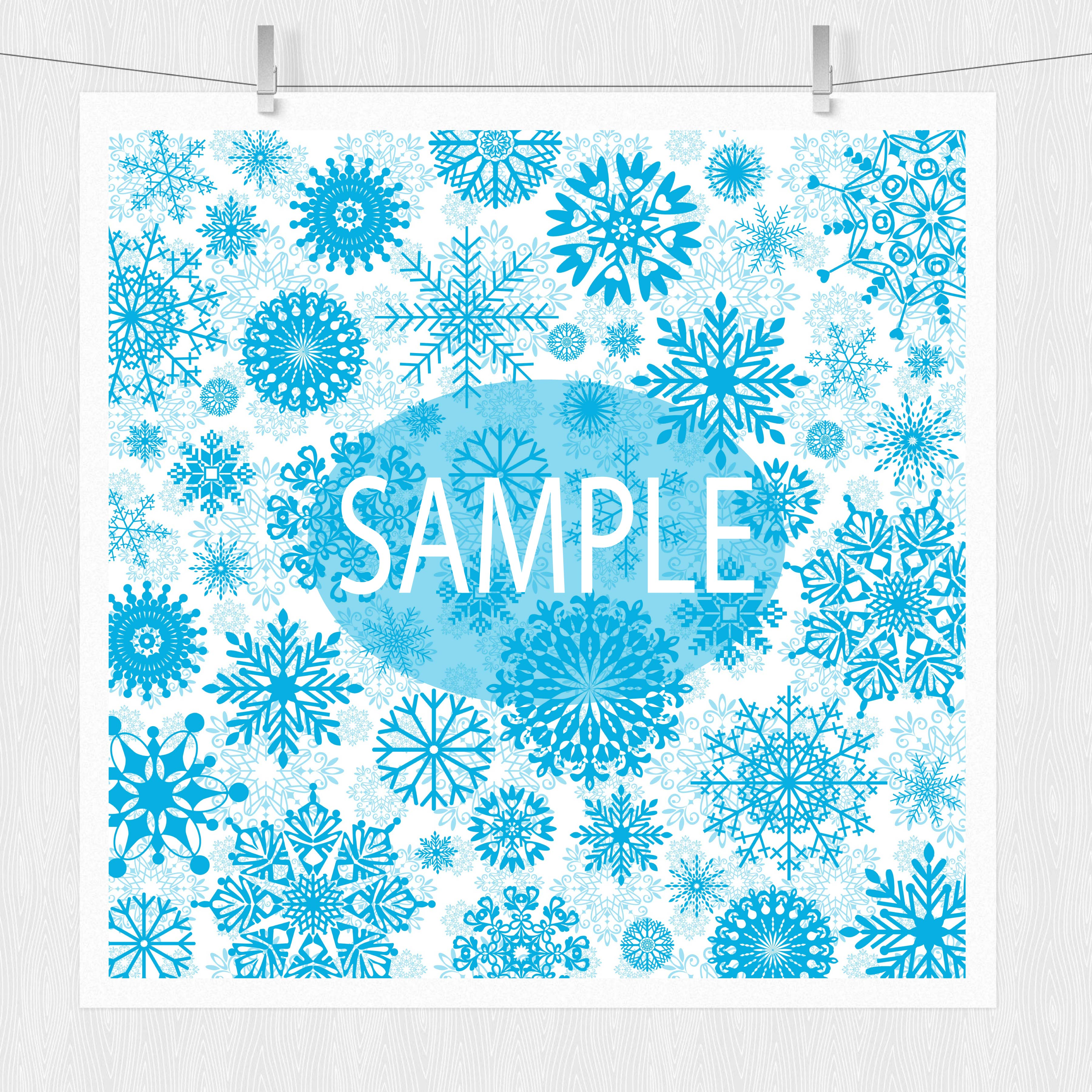 Winter Digital Paper Pack - Snowflake Patterns example image 2