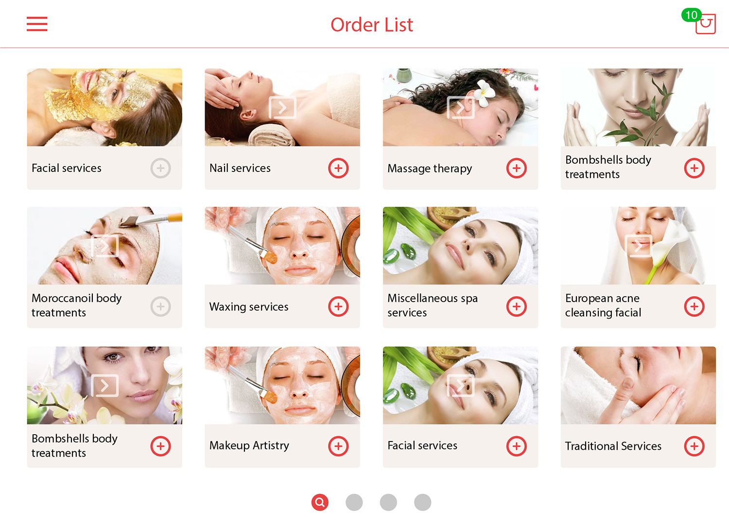 Touch Spa UI Kit example image 4