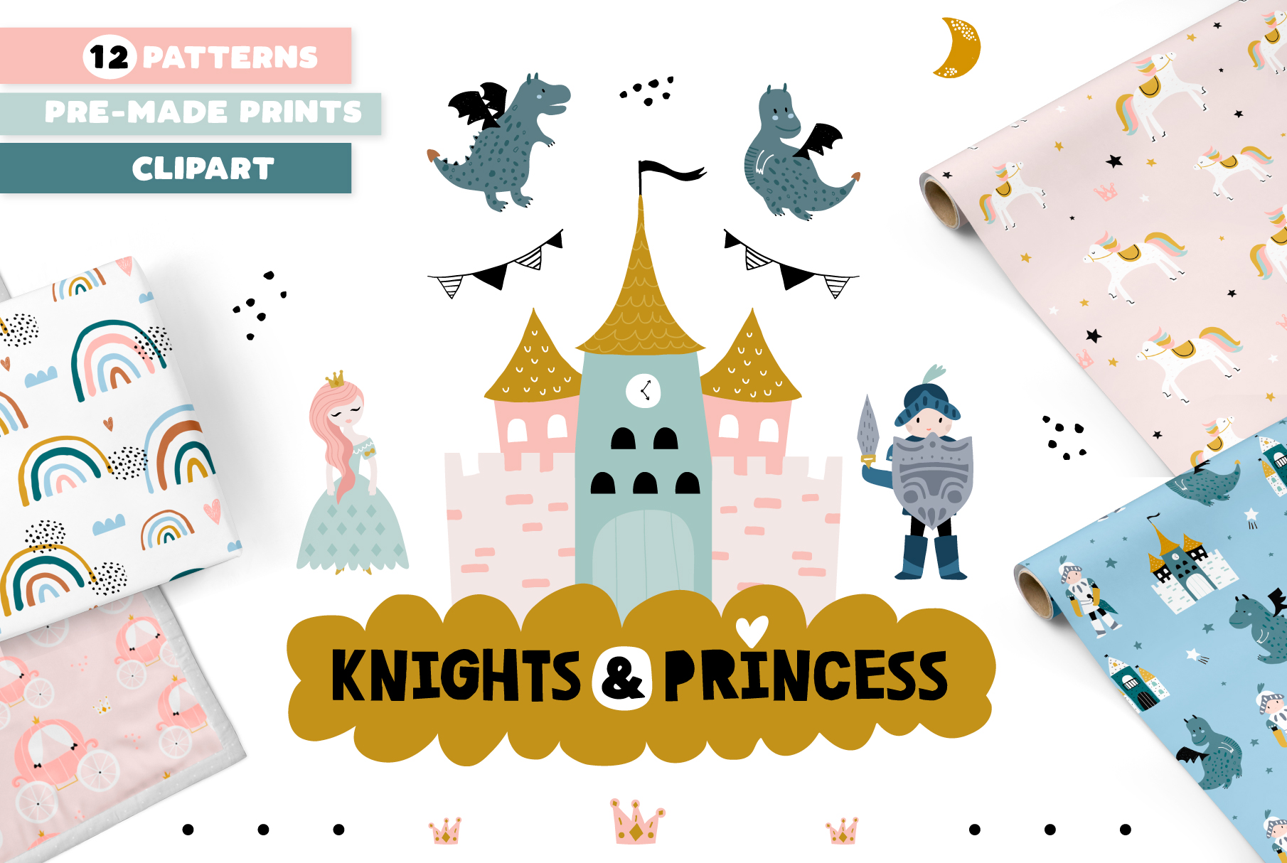 Knights & Princess graphic set example image 1