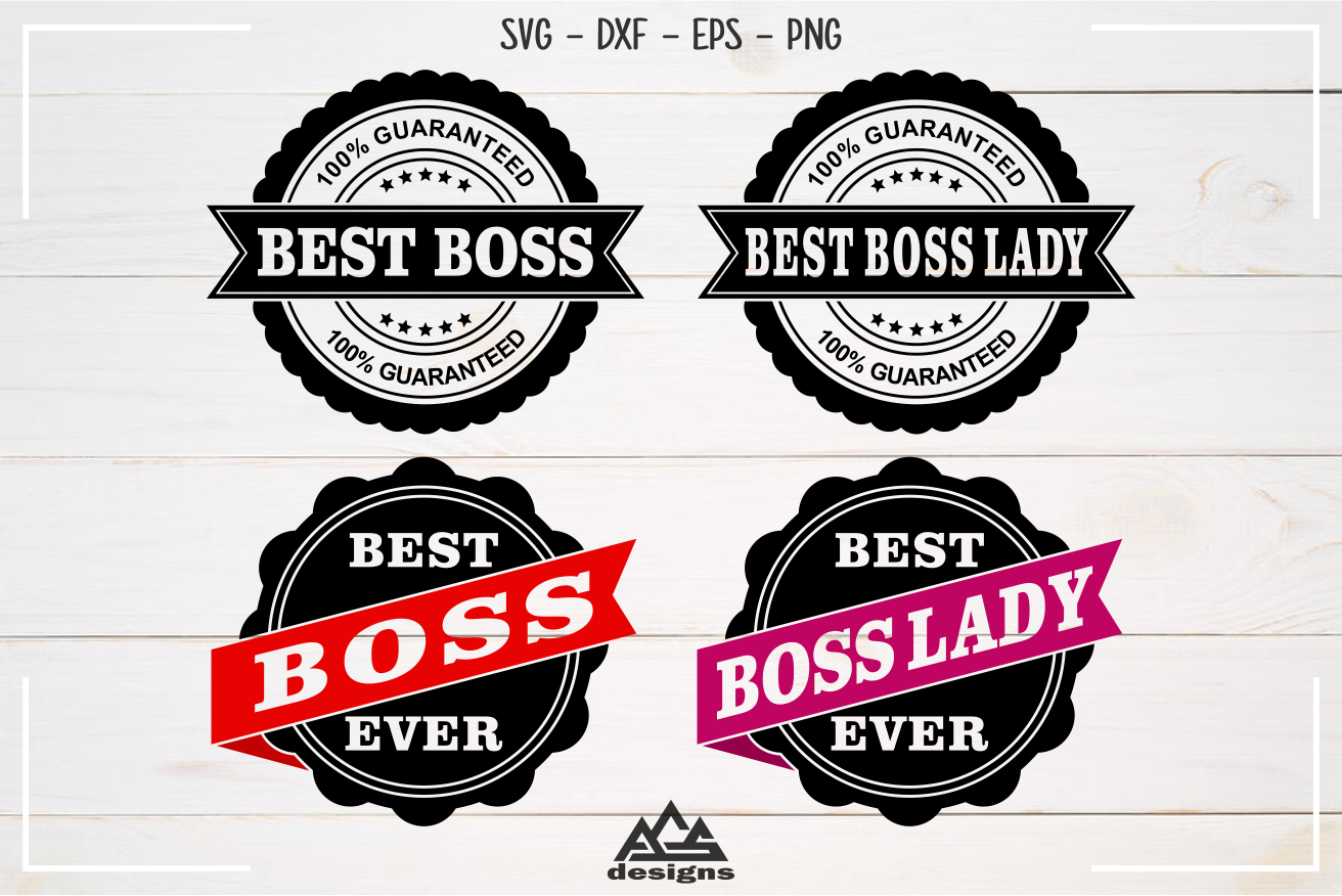 Best Boss Best Boss Lady Stamp Svg Design example image 1