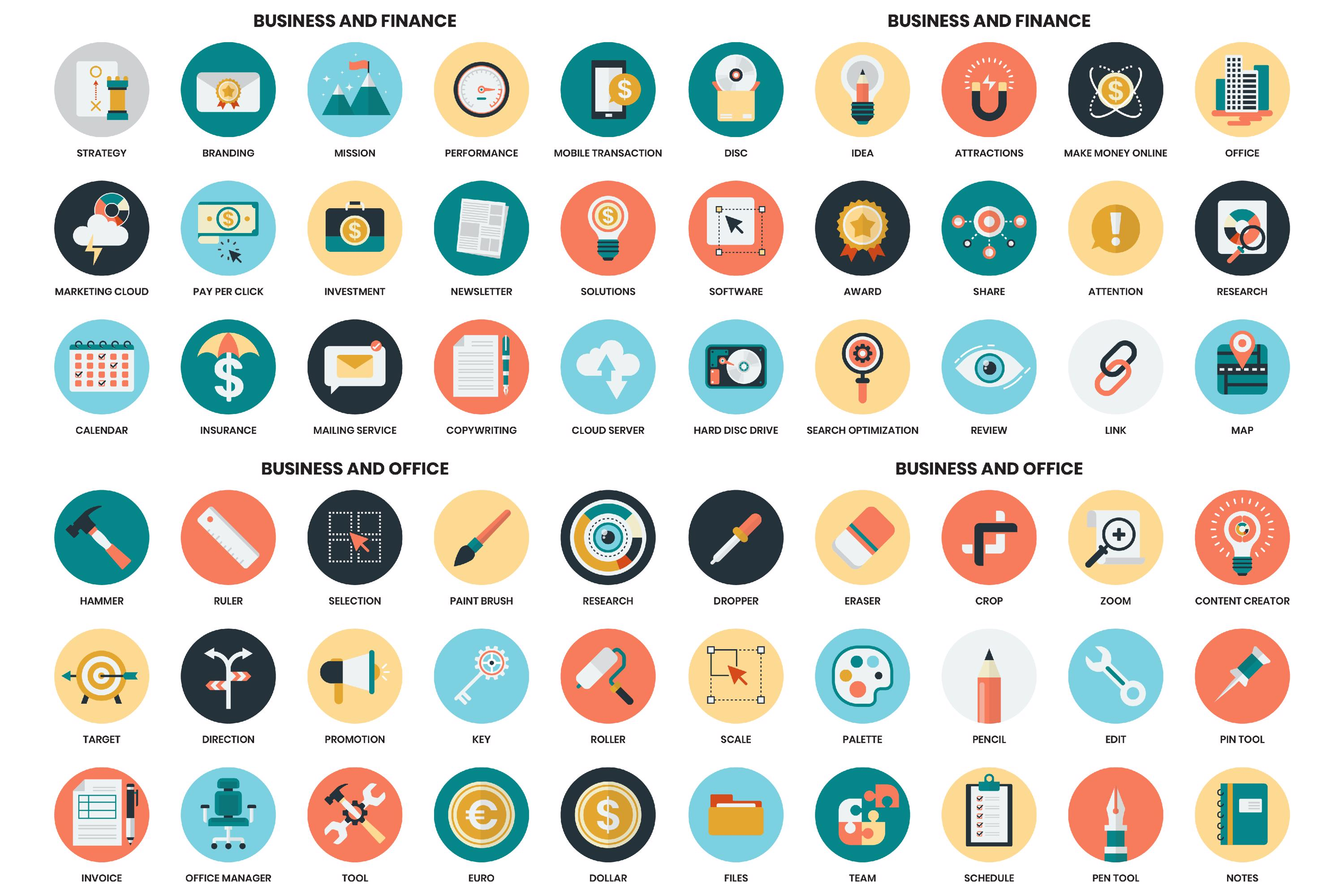 1155 PERFECT ICONS SET example image 6